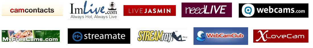 Логотипы вебкам сервисов